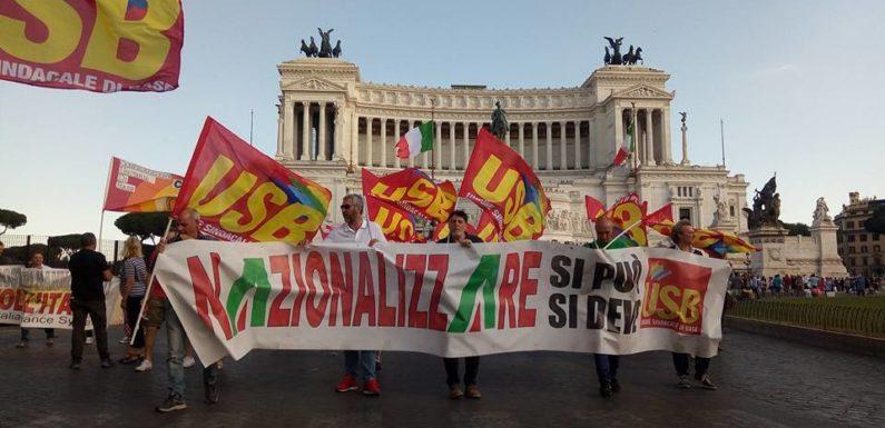 Altro che rilancio Alitalia, il governo prepara un nuovo bagno di sangue. USB: difendere ogni lavoratore, mercoledì 3 tutti a Porta Pia